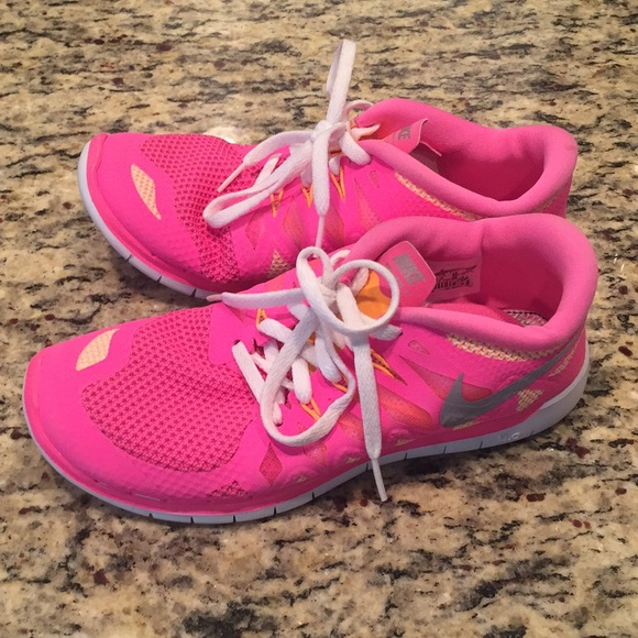 Nike Free Run Girls Nike Free 50 Preschool Girls Running Shoe